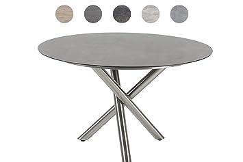 glastisch rund 120 cm awesome mies van der rohe glastisch knoll rund stahlrohr bauhaus lounge. Black Bedroom Furniture Sets. Home Design Ideas