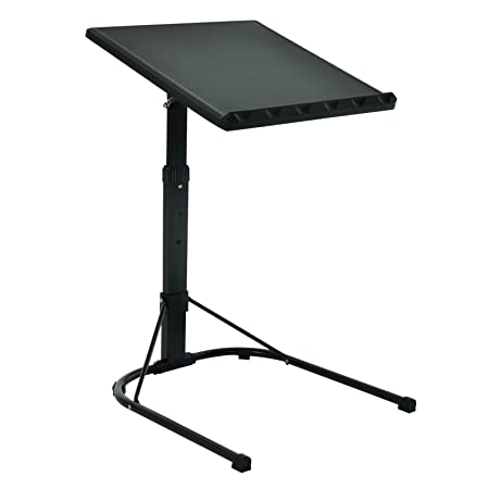 Exceptional Folding Black Laptop Table Adjustable Height Portable Gaming Computer Desk  Stand Tray