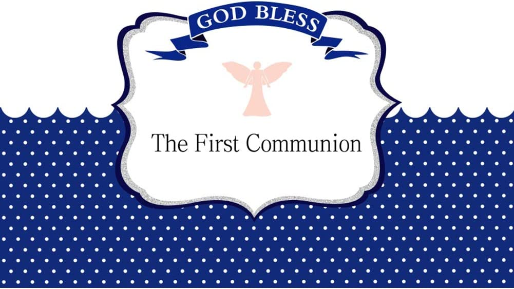 Yeele 10x8ft First Communion Backdrop Kids Baptism Christening Pink Angel Photography Background Church Events Baby Shower Cake Dessert Table Decor Decoation Banner Photo Booth Wallpaper