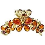5色 しっかりとまる BIGサイズ ステンドグラス 蝶々 ヘアクリップ 109100C