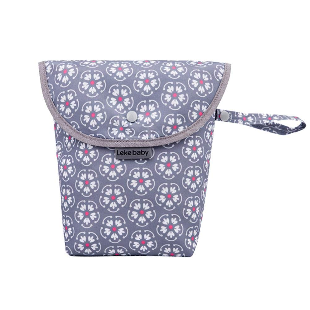 Baby Diaper Bag Organiser Waterproof Buckle Pouch Washable Reusable Baby Cloth Bag for Travelling, Swimwear, Wet or Dry Clothes Storage Bag, 21 X 15 X 8cm Welltobuy-555