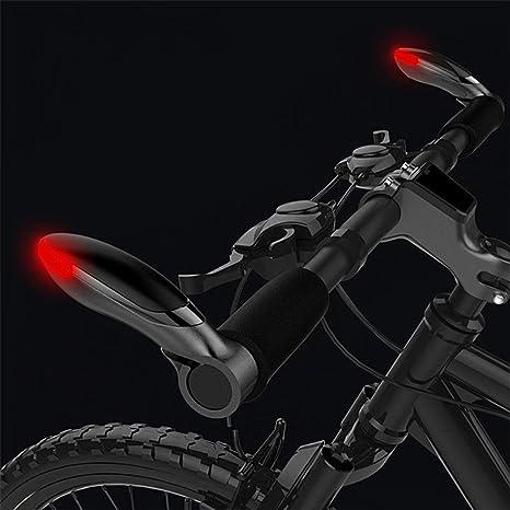 West Biking Mangos del extremo del manubrio con luz intermitente ...