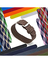 CIVO 20 mm Simple Design NATO Watch Strap Premium Nylon Perlon Braided Woven Watch Bands with Stainless Steel Buckle (Brown, 20mm)