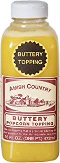 product image for Amish Country Popcorn | Buttery Popcorn Topping | 16 oz Jar | Old Fashioned with Recipe Guide (16 oz Jar)