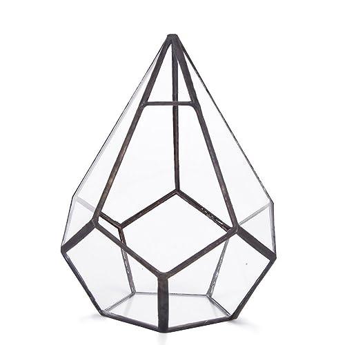 ncyp modern diy wall mount hanging pyramid glass geometric
