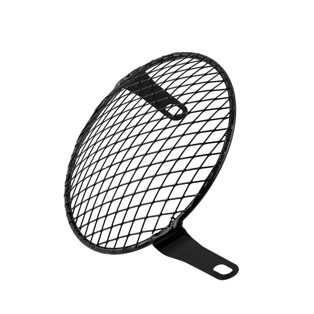 Lamp Mask Protector Guard for Cafe Racer Mental Wire Mesh Side Mount Universal Vintage Classic 16cm 6.3 Motorcycle Headlights Grill Cover