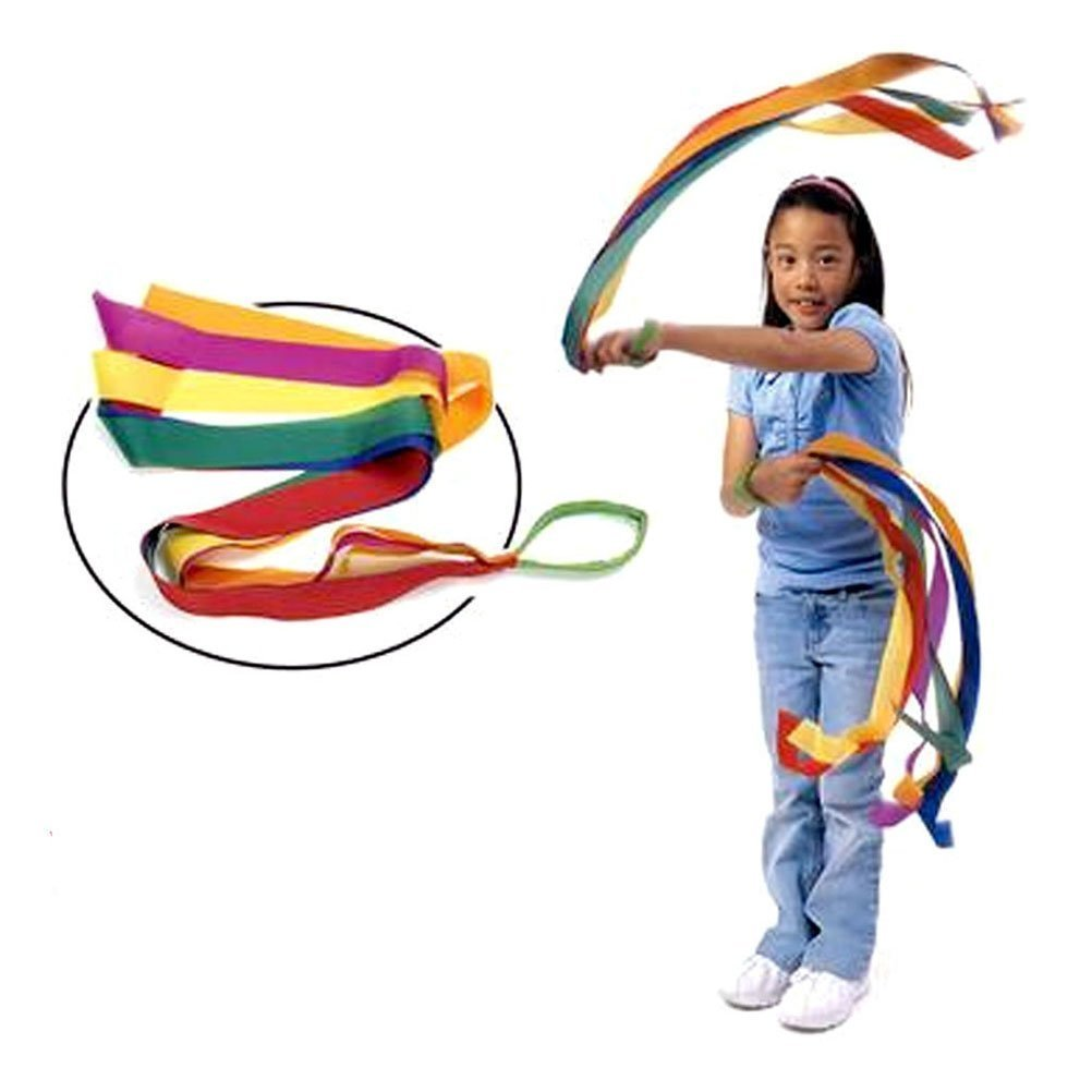 Mydio 12 Pack Rainbow Ribbon Rhythm Ribbon Dance For Kid's Dance Routines and Play,Set of 12