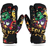 Women Mens Skiing Gloves Mitten Outdoor Mountaineering Waterproof Anti-Cold Glove Large Size