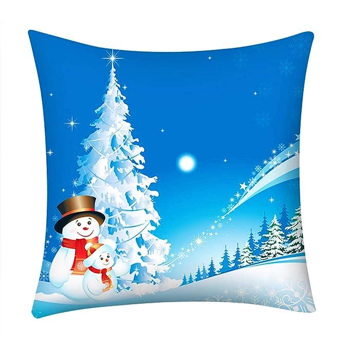 Reooly Christmas Pillow Case Funda de Almohada Bordada Hogar ...