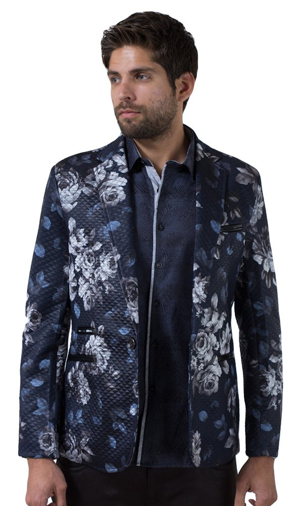 Barabas Men's ''Roses'' Blazer Jacket XX Large