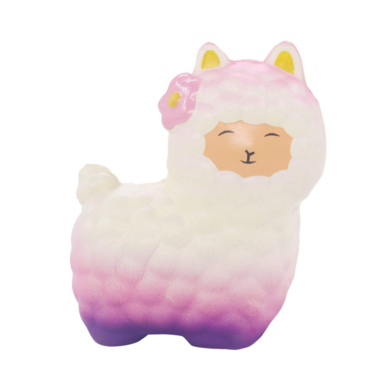 Yliquor Squishy Cute Sheep Alpaca Super Slow Rising Scented Fun Toys (B)