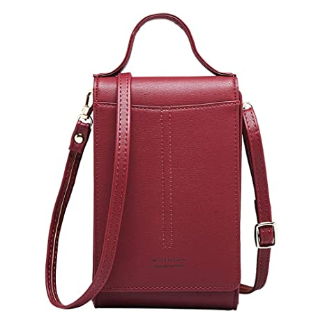 2484ee7af17 Women Wallet Cross-body Bag Leather Purse Coin Cell Phone Mini Pouch Card  Holder Shoulder Wallet Bag