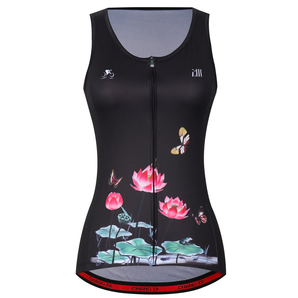ZM Cycling Sleeveless Jersey Vest Women/Bicycle Cycle summer Vest Women/Breathable Bike Vest Sleeveless (S, 10)