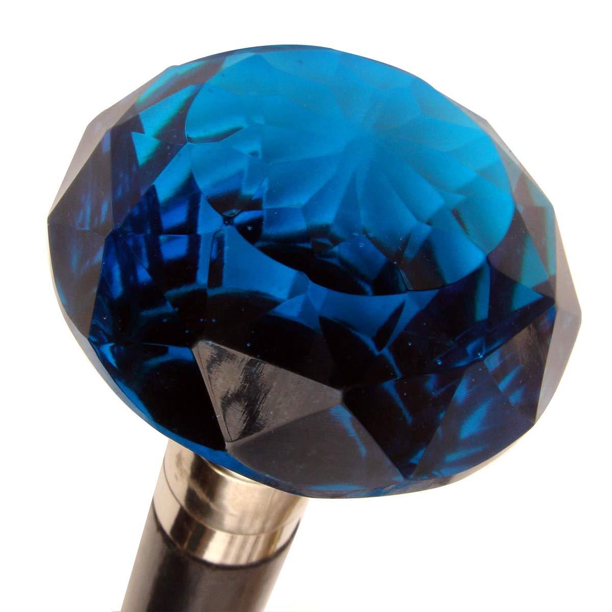 Amazon.com: Victorian Bastón Azul Cobalto (caña de vidrio ...
