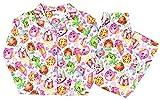 Shopkins Little Girls Coat Button-Front Pajama Set (10, Pink Print)