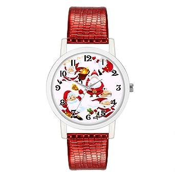 LILICAT❋ Relojes Pulsera Mujer, Reloj De Pulsera De Cuarzo De Diamante De Mujer Analógico Reloj Banda de Cuero de Navidad de Cuarzo analógico Vogue Relojes ...