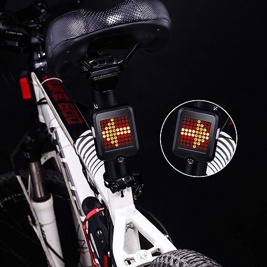 Bicicleta luz de la noche Luz de la bicicleta inteligente ...