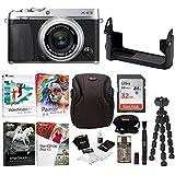 Fujifilm X-E3 Mirrorless Digital Camera w/XF23mm f/2 R WR Lens (Silver) w/BLC Leather Case, 32GB Memory Card & Editing Software Bundle