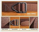 Men's Military-Style Webbing Belt D-ring Golf