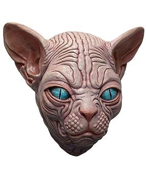 máscara de gato Sphynx espeluznante