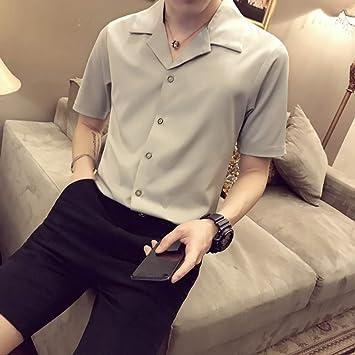 MKDLJY Camisetas Traje de Hombre Camisa de Manga ...