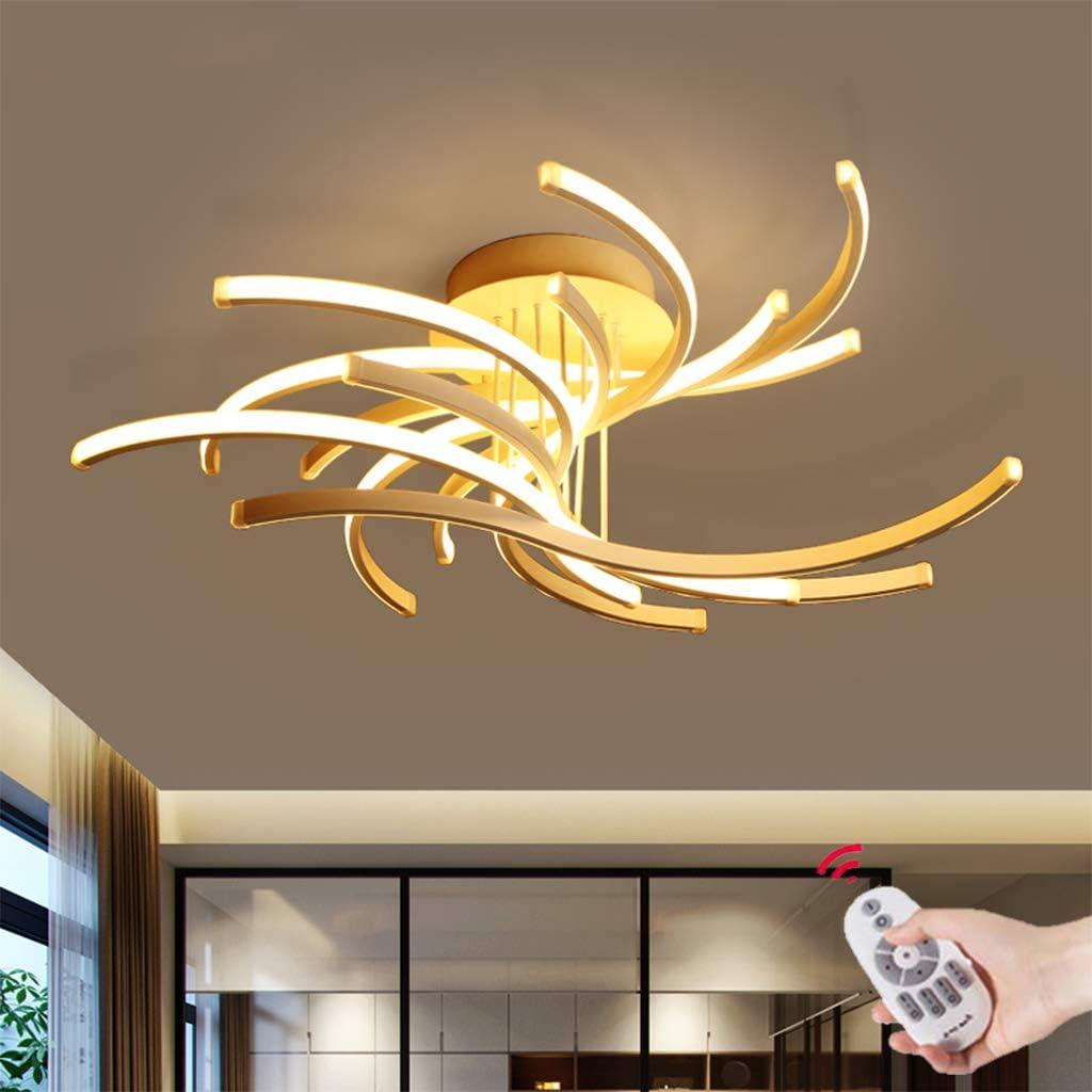 LED Plafonnier Lumi/ère Moderne Salon Lampe Bague Designer Abat Jour Suspension Acrylique Plafond Bureau Chambre Minimaliste M/étal Hall Dentr/ée Salle D/écorative Luminaire,Dimming,117WL100cmH26cm
