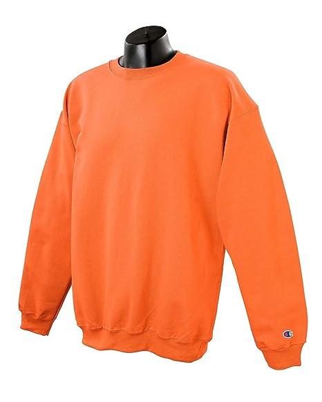 928f4f74 Amazon.com: Champion Adult 50/50 Crewneck Sweatshirt, Orange - Size Small:  Clothing