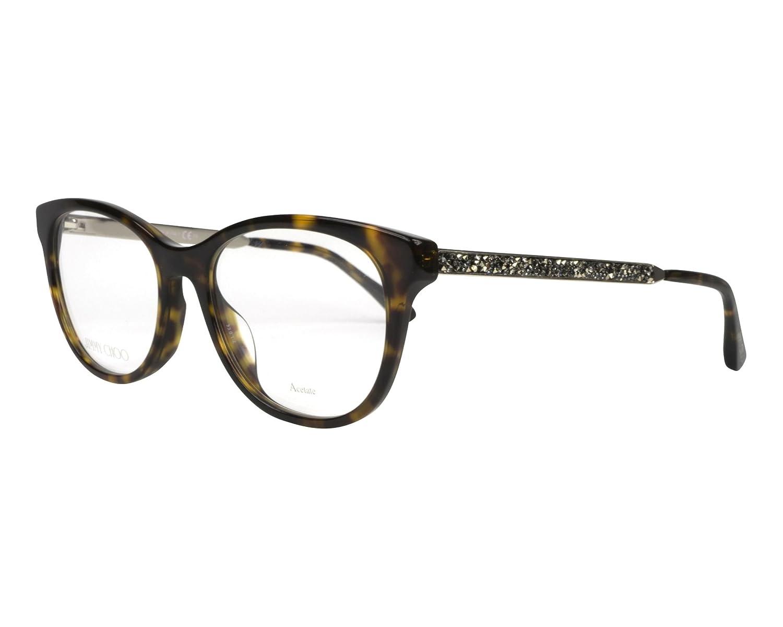 f50a964c1df4 Jimmy Choo frame (JC-202 807) Acetate - Metal Shiny Black - Gold at Amazon  Women s Clothing store