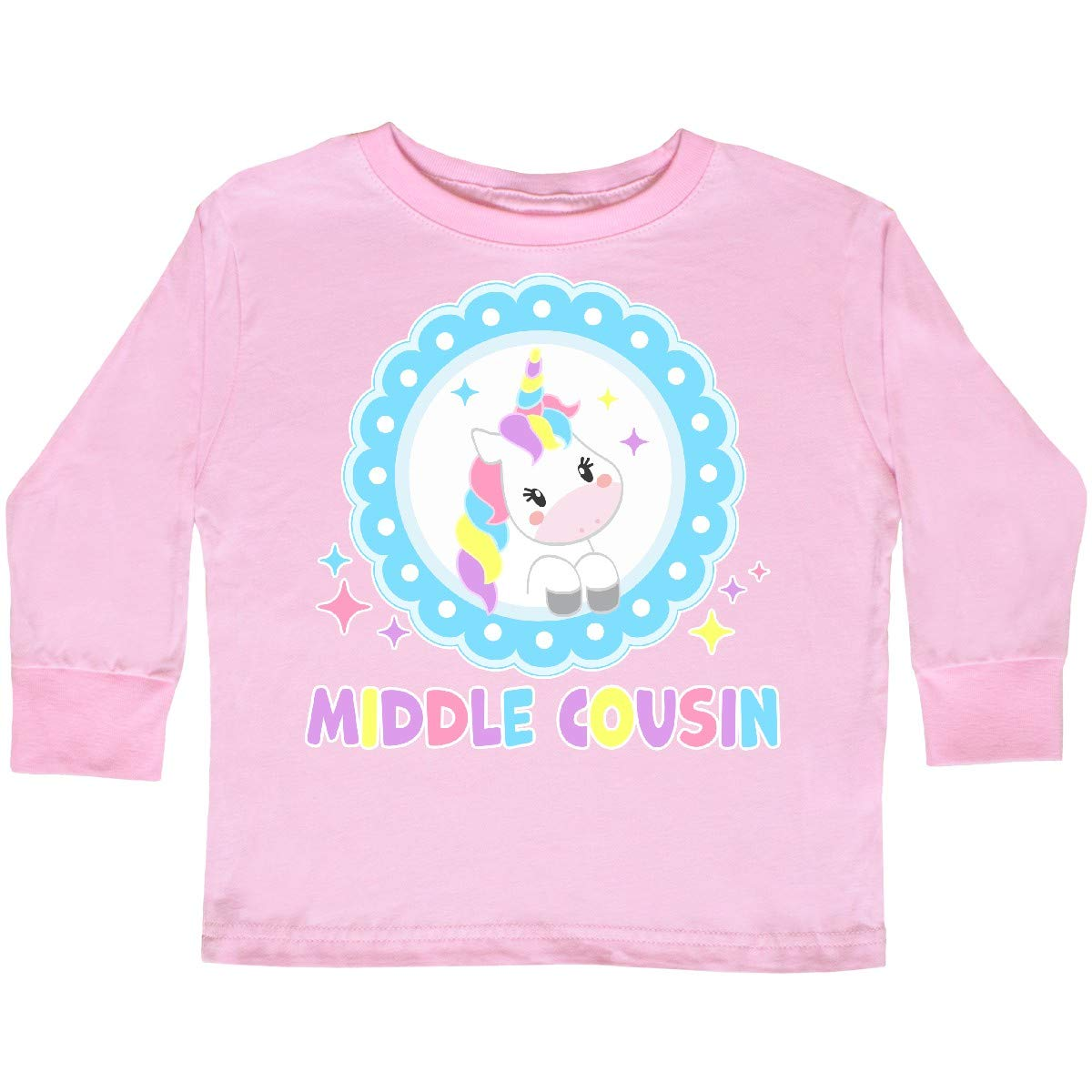 inktastic Middle Cousin Cute Unicorn Toddler Long Sleeve T-Shirt