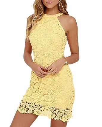 Resultado de imagen de Vestidos de encaje amarillos