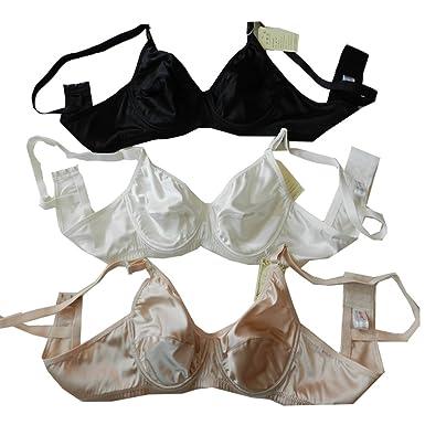 Panasilk 3pcs Sexy para Mujer 100% Pure Seda Sujetador cómodo aro sólido 38 A 46 A: Amazon.es: Ropa y accesorios