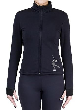ny2 Sportswear Figure Skating Polartec Polar Fleece Jacket with Rhinestones JR228