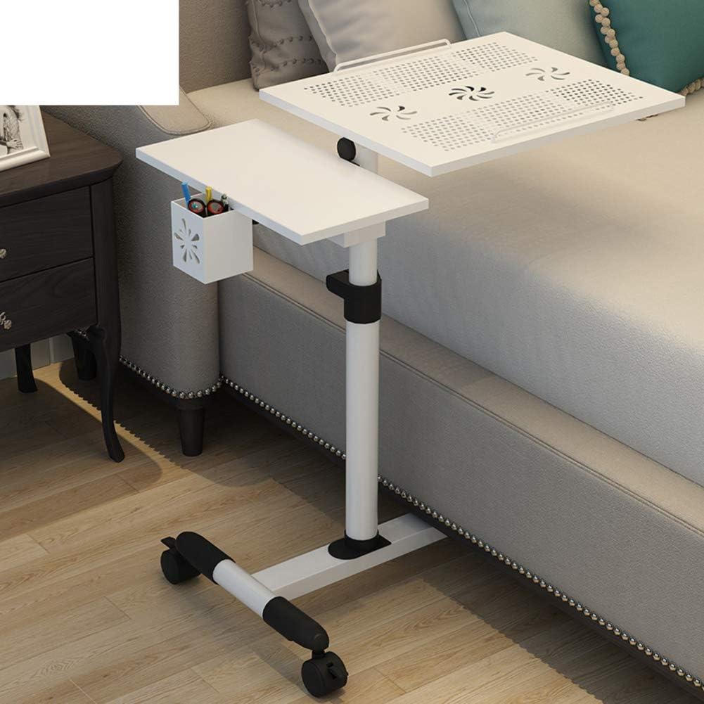 HYXL Carrello Portatile Regolabile in Rotolamento Tavolino Servitore per Pazienti Allettati,scrivania per Laptop Rolling Comodino Deluxe Inclinabile con Letto A Ribalta-u