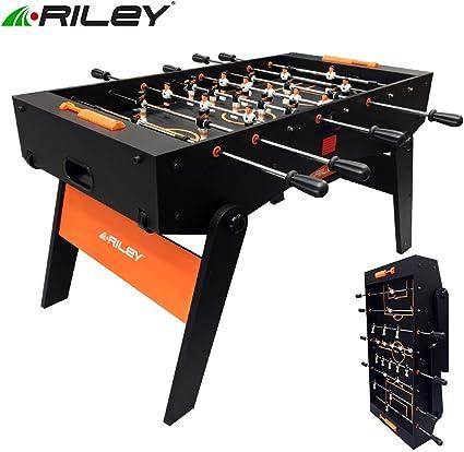 Riley Futbolín Supreme con Patas Plegables y Barras telescópicas: Amazon.es: Juguetes y juegos