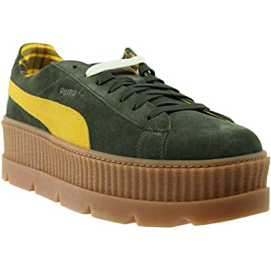 detailed look 8dd01 3aed0 PUMA Mens Fenty by Rihanna Suede Cleated Creeper Casual Shoes