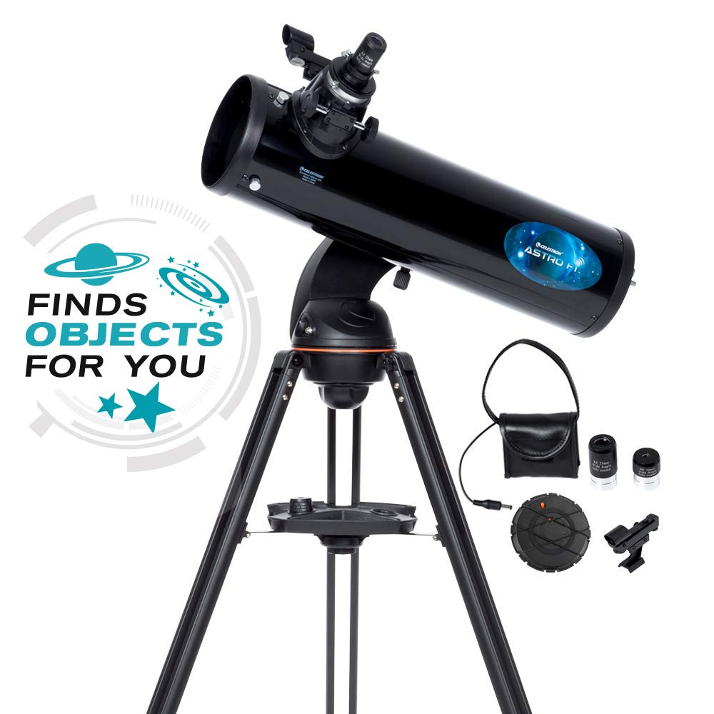 Celestron Astro Fi 130 Wireless Reflecting Telescope, Black (22203) by Celestron
