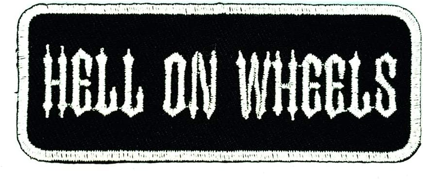 PP Patch White FTW Funny Biker Word Slogan Joke Patch DIY Applique Embroidery Iron on Patch