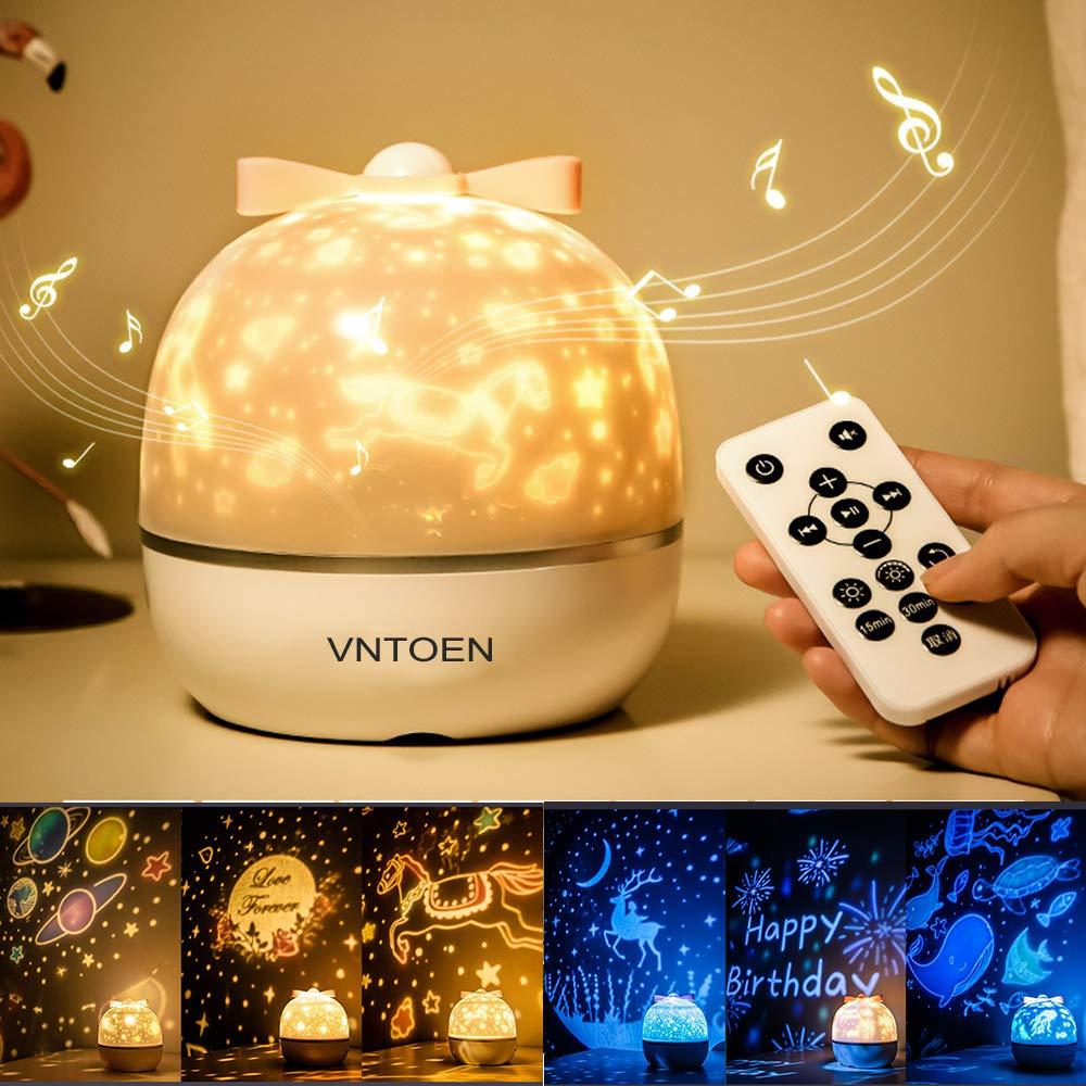 Proyector LED, luz de noche altavoz Bluetooth control remoto