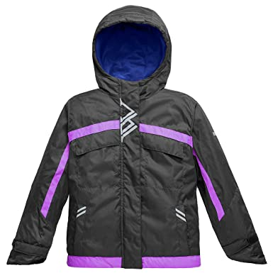 0b1609d1c Wantdo Girl's Winter Warm Rain Jacket Windproof Jacket with Hood 4/5 Black
