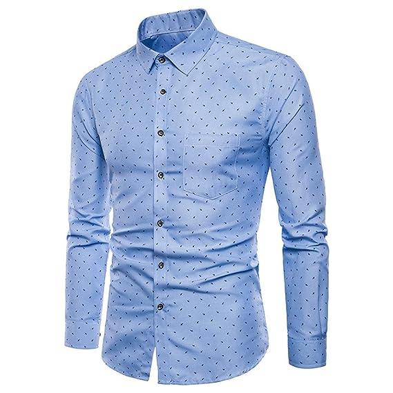 Camisas de Hombre, Hombres de Manga Larga Oxford Formal ...