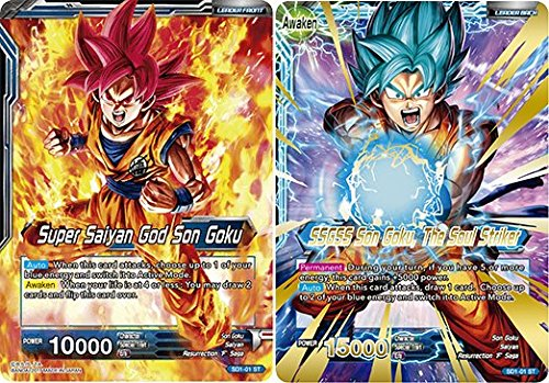 Dragon Ball Super TCG - Super Saiyan God Son Goku // SSGSS Son Goku, The Soul Striker - Series 1 Starter The Awakening - (Series 1 Starter: The Awakening) - SD1-01
