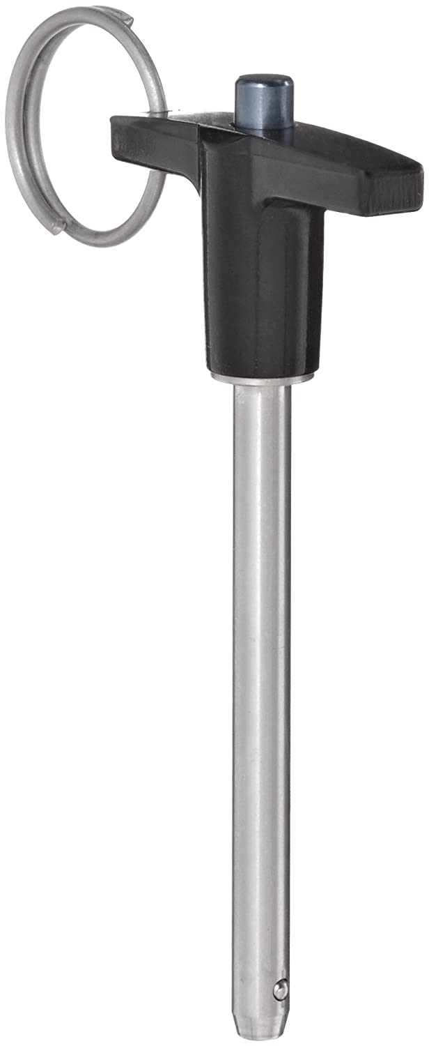 1.5 Usable Length Push Button Plain Finish 0.25 Diameter 304 Stainless Steel Quick-Release Pin