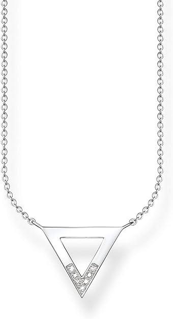 Thomas Sabo Femmes-Collier Glam & Soul Argent Sterling 925 Diamant blanc pavé Longeur de 40 à 45 cm D_KE0007-725-14-L45v
