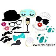 breakfast at tiffanys deluxe photo booth props 20 piece prop set with glitter