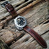 Custom 22mm Handmade Premium Calf Leather Watch Band Gunny Straps - Jamon Serie