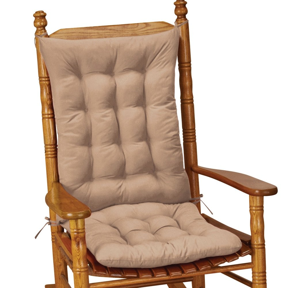 Collections Etc Quilted Rocking Chair Cushion Set, Beige