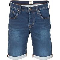 MUSTANG Herren Jeans Sweat Short Chicago Kurze Stretch Hose Real X Regular Fit - Blau - Grau