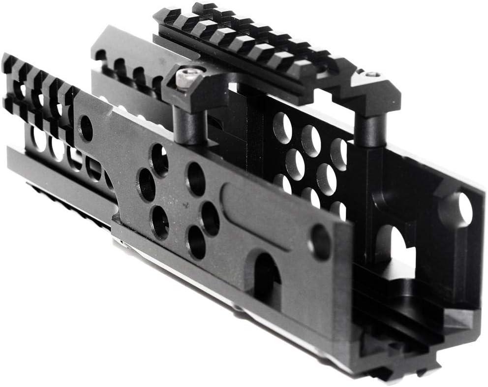 Airsoft Parts CNC Aluminum 206mm RIS Ras Handguard Rail System Syst/ème de Garde-Mains for pour A/&K PKM AEG