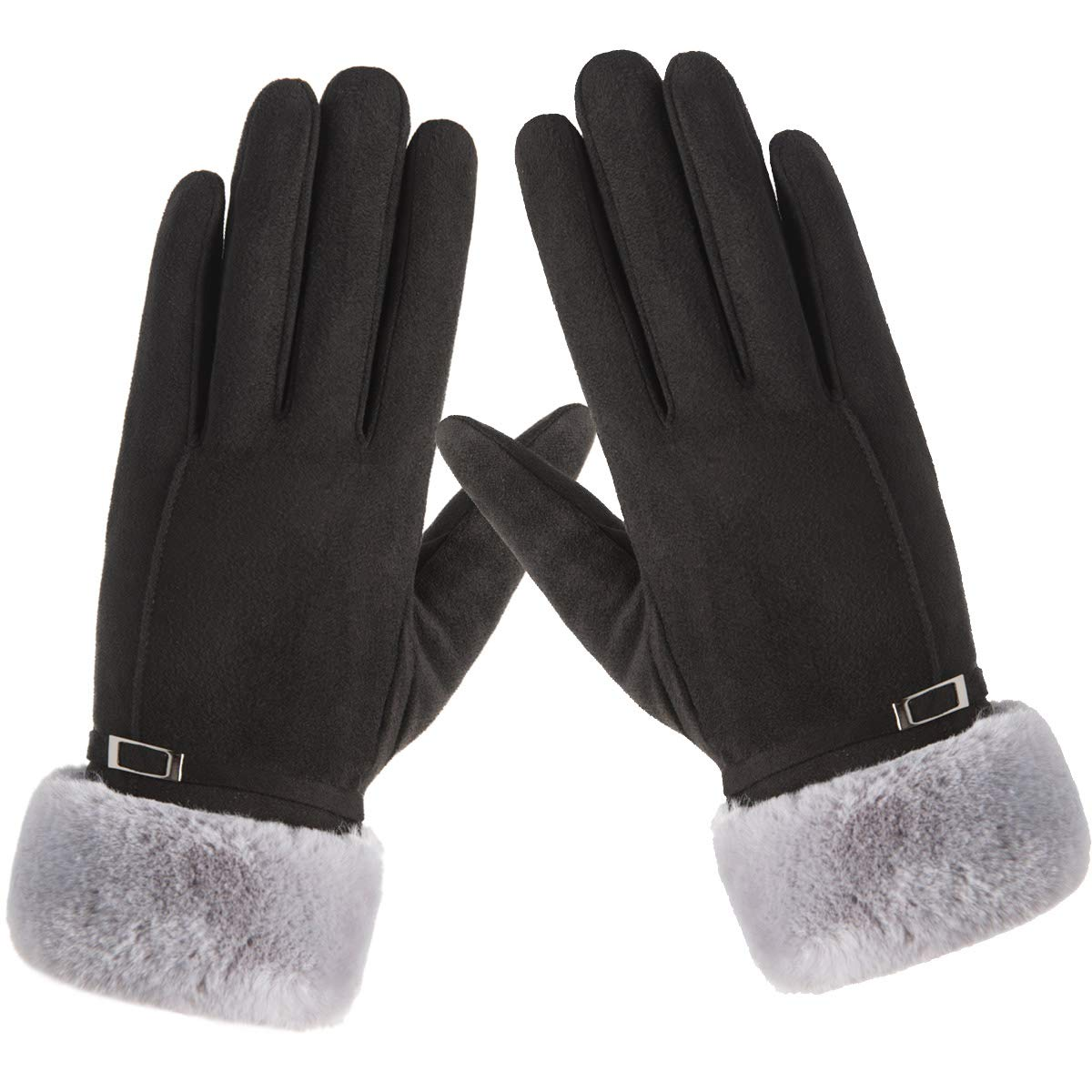 Vohoney Ladies Gloves Winter Gloves WomenTouch Screen Gloves Texting Gloves Cold Weather Thick Warm Gloves Outdoor Sports Driving Skiing Running Cycling Ladies Winter Gloves for Black 3