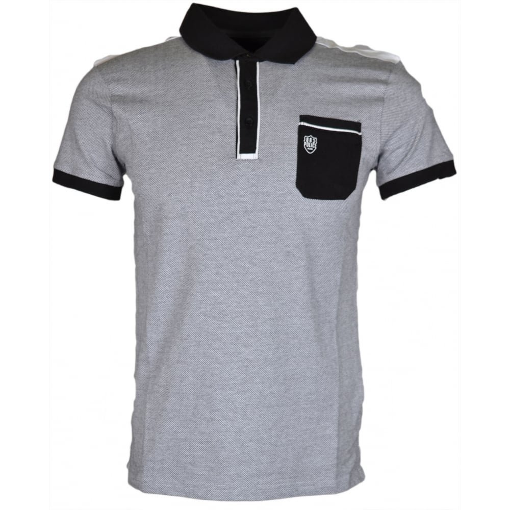 883 Police - Polo - para Hombre Blanco Blanco Medium: Amazon.es ...